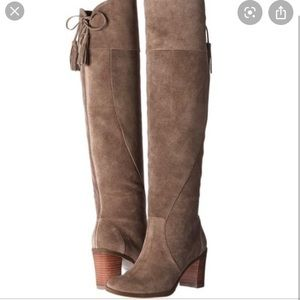 Dr. Scholl's Suede Over the Knee Boots Gray
